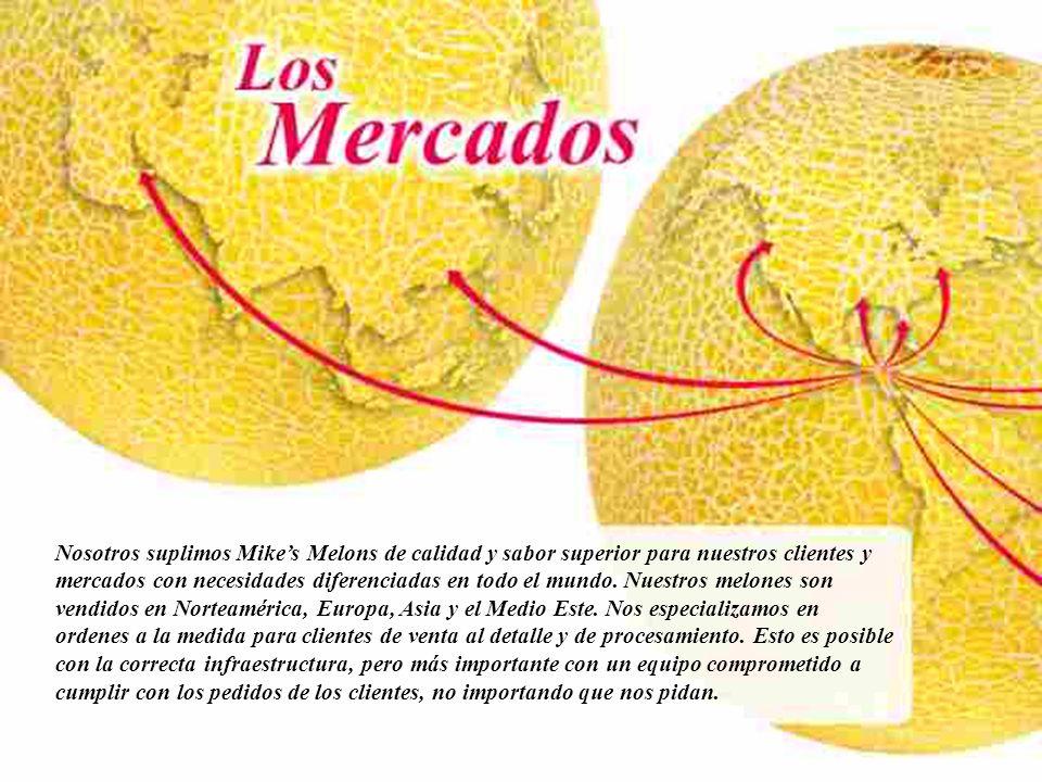 Nosotros suplimos Mike's Melons de calidad y sabor superior para nuestros clientes y mercados con necesidades diferenciadas en todo el mundo.