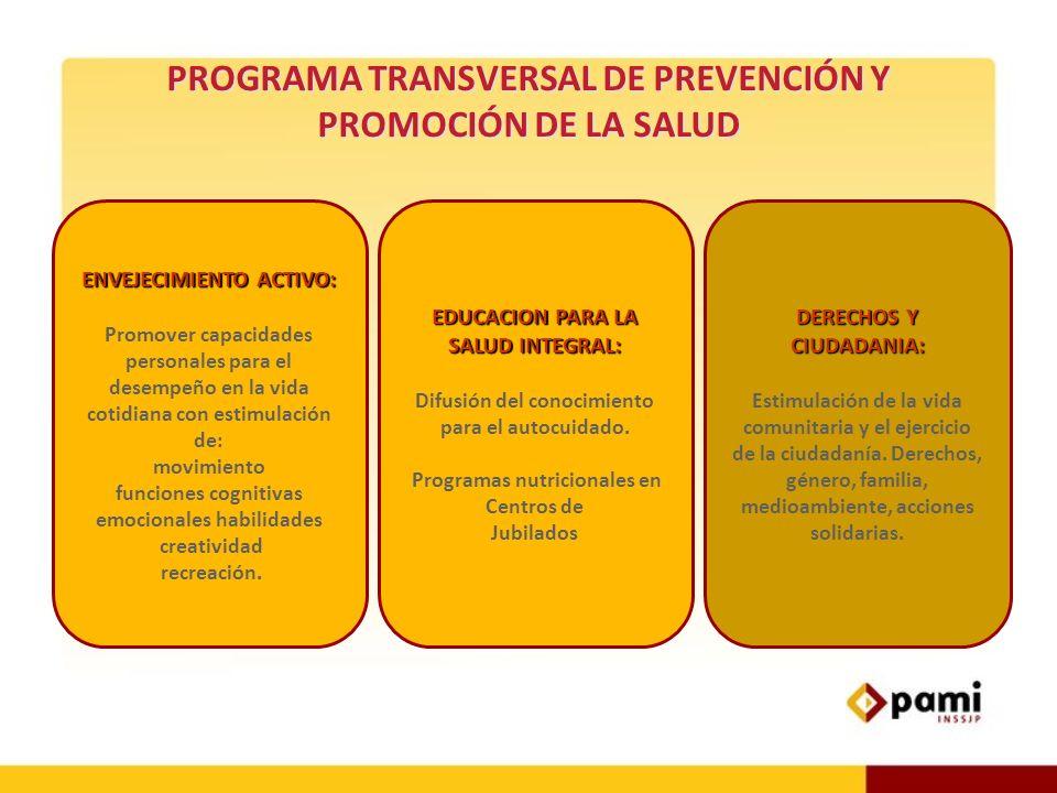 PROGRAMA TRANSVERSAL DE PREVENCIÓN Y PROMOCIÓN DE LA SALUD