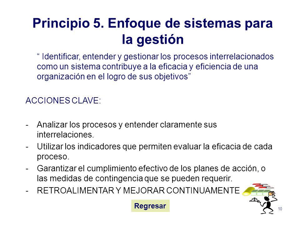 Principio 5. Enfoque de sistemas para la gestión
