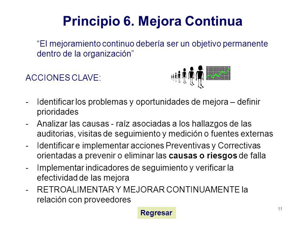 Principio 6. Mejora Continua