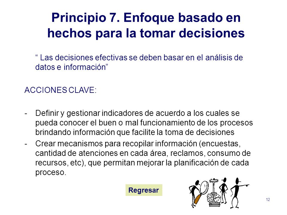Principio 7. Enfoque basado en hechos para la tomar decisiones