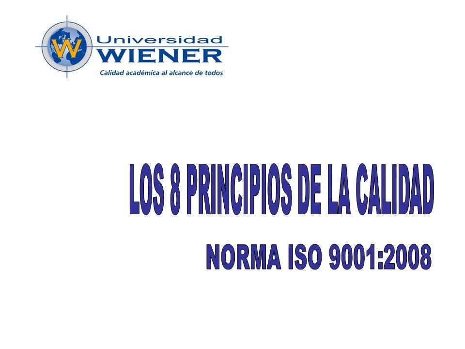LOS 8 PRINCIPIOS DE LA CALIDAD
