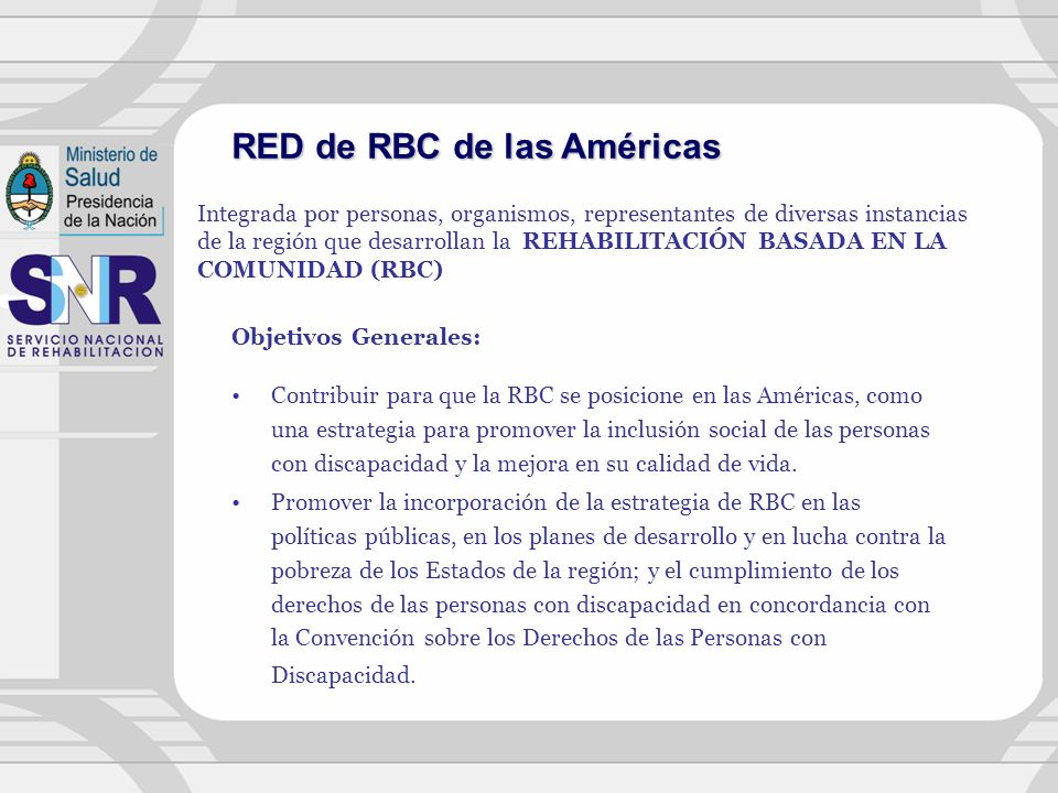 RED de RBC de las Américas