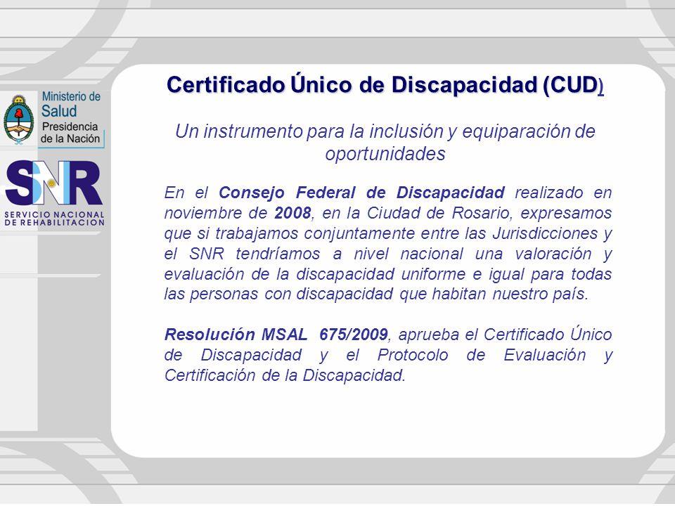Certificado Único de Discapacidad (CUD)