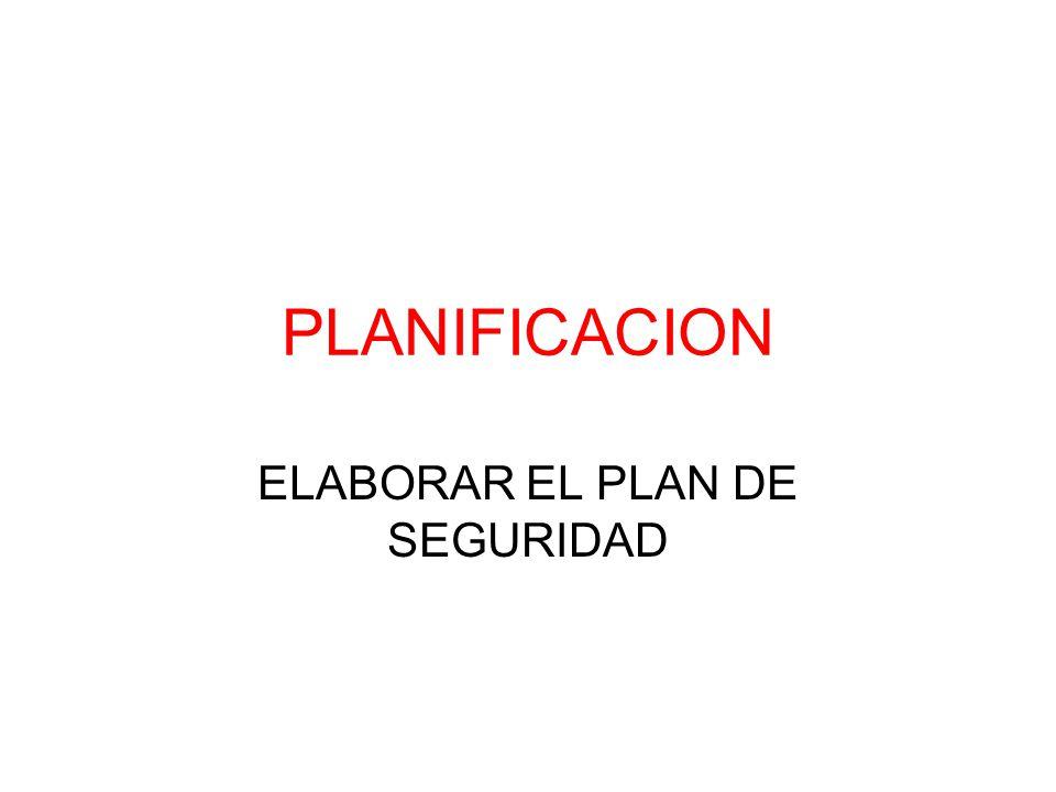 ELABORAR EL PLAN DE SEGURIDAD