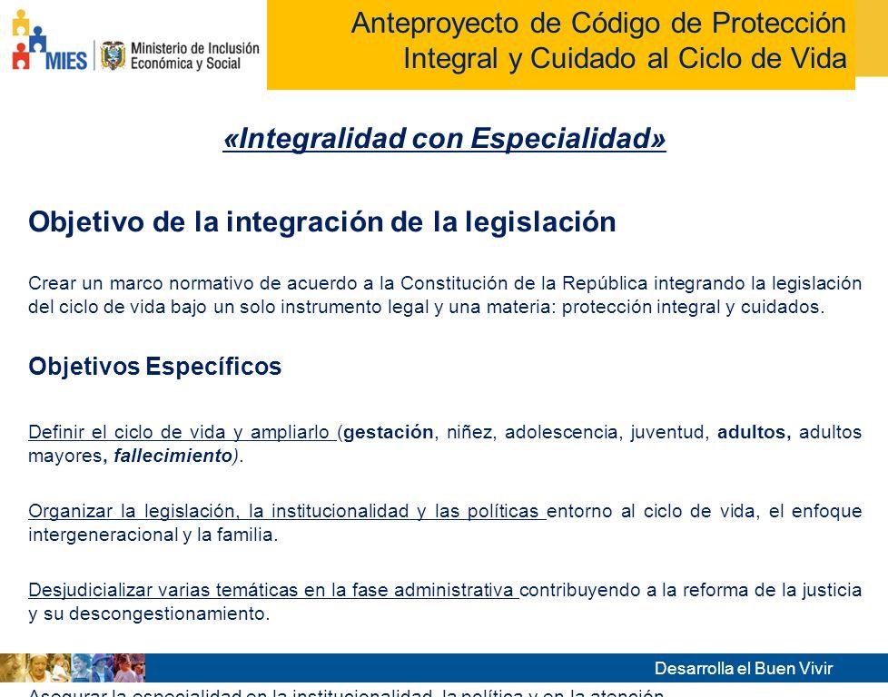 «Integralidad con Especialidad»