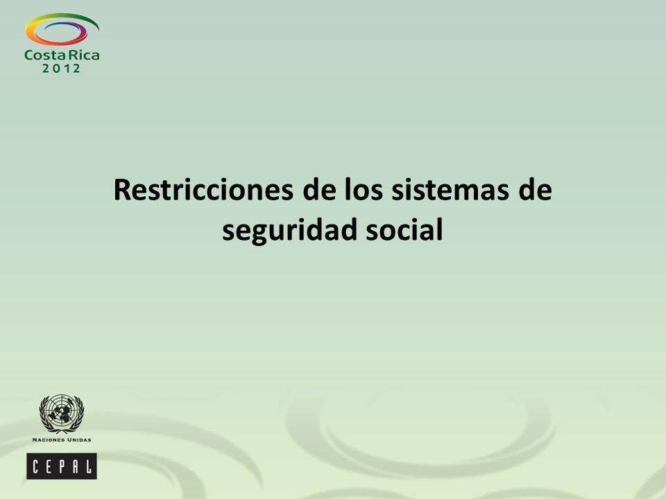 Restricciones de los sistemas de seguridad social