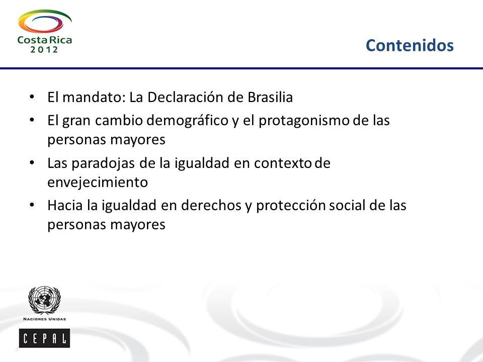 Contenidos El mandato: La Declaración de Brasilia