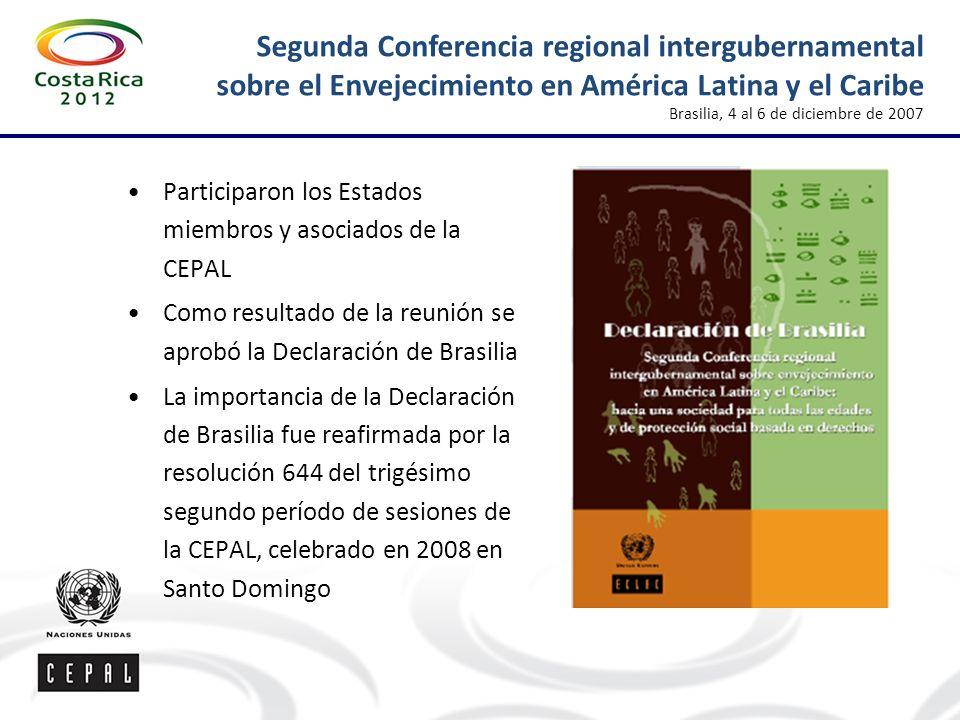 Segunda Conferencia regional intergubernamental sobre el Envejecimiento en América Latina y el Caribe Brasilia, 4 al 6 de diciembre de 2007