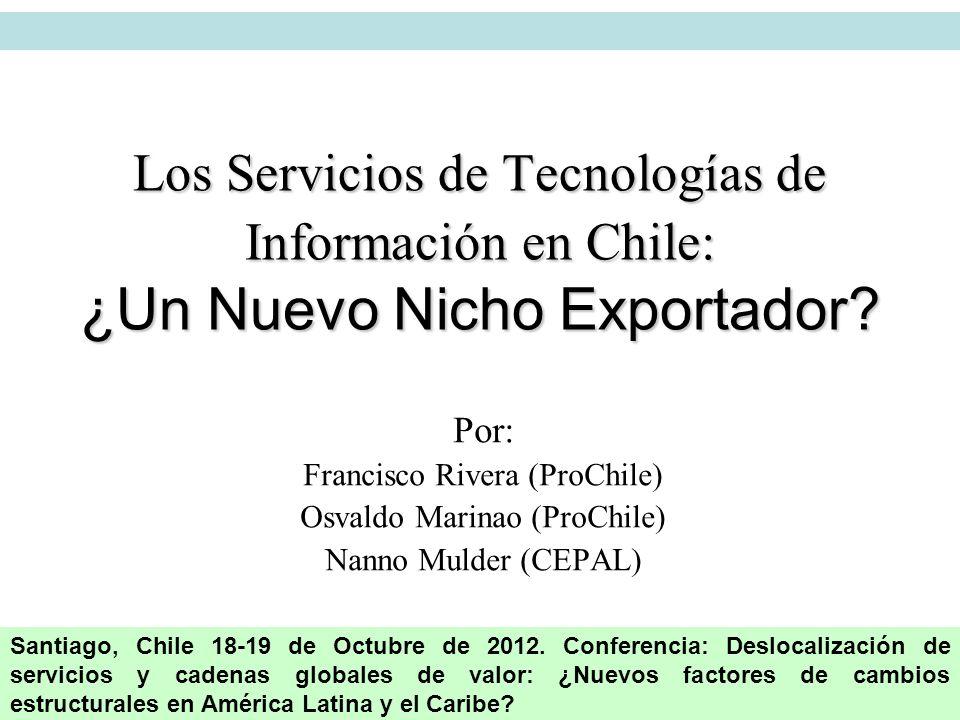 Los Servicios de Tecnologías de Información en Chile: ¿Un Nuevo Nicho Exportador