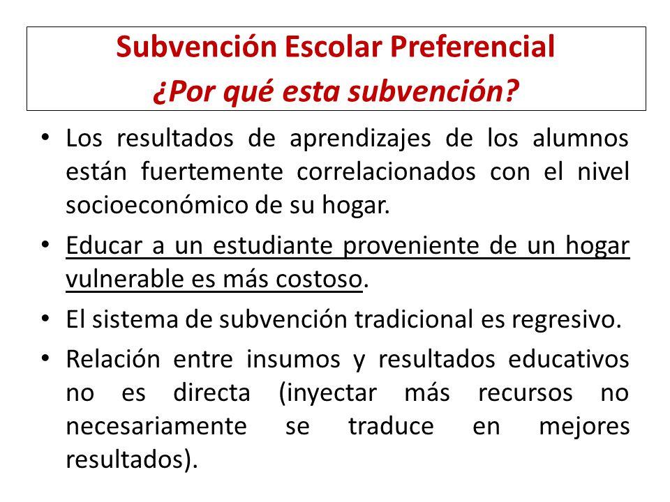 Subvención Escolar Preferencial ¿Por qué esta subvención
