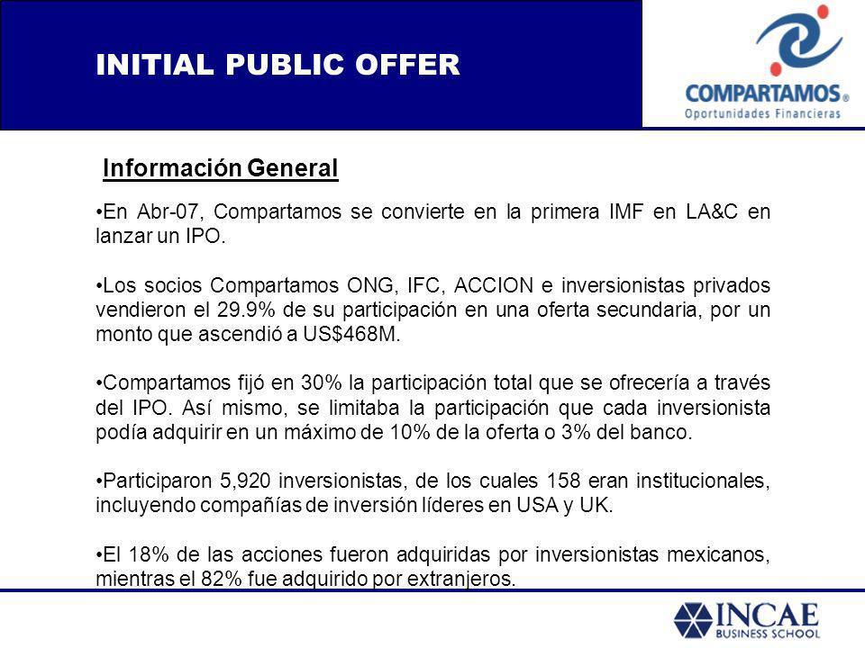INITIAL PUBLIC OFFER Información General