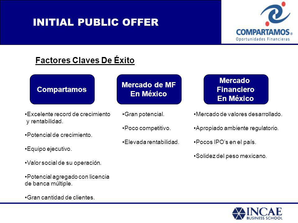 INITIAL PUBLIC OFFER Factores Claves De Éxito Compartamos