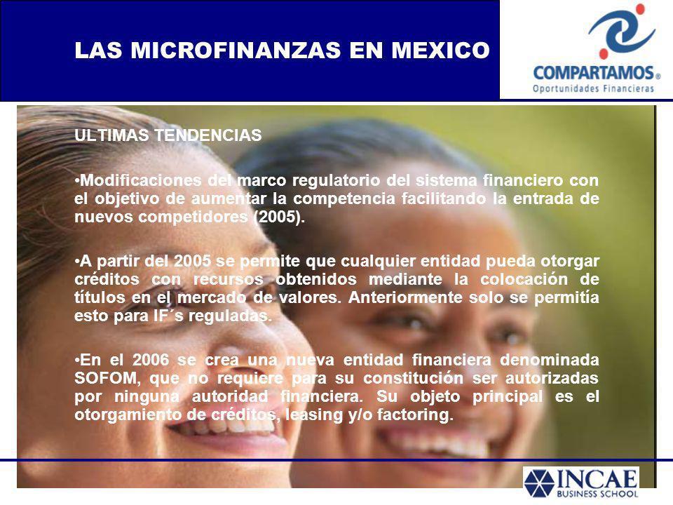LAS MICROFINANZAS EN MEXICO