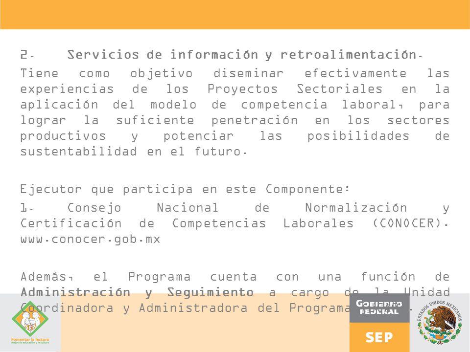 2. Servicios de información y retroalimentación