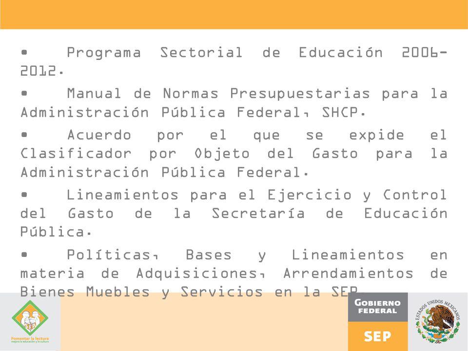 • Programa Sectorial de Educación 2006-2012