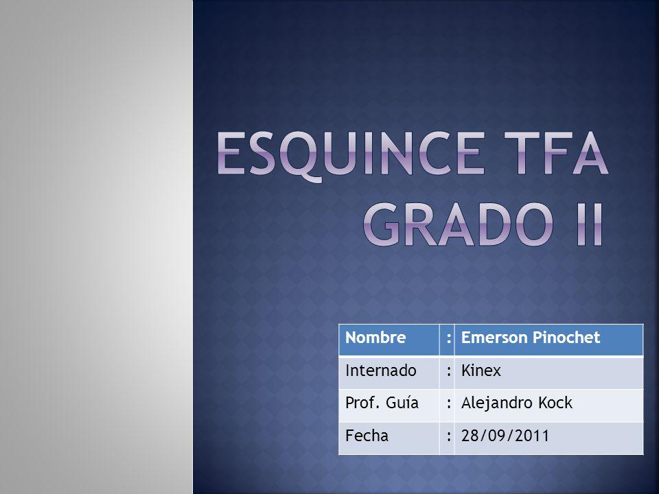 Esquince TFA Grado II Nombre : Emerson Pinochet Internado Kinex