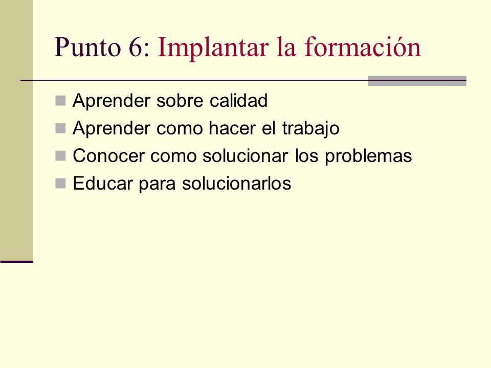 Punto 6: Implantar la formación