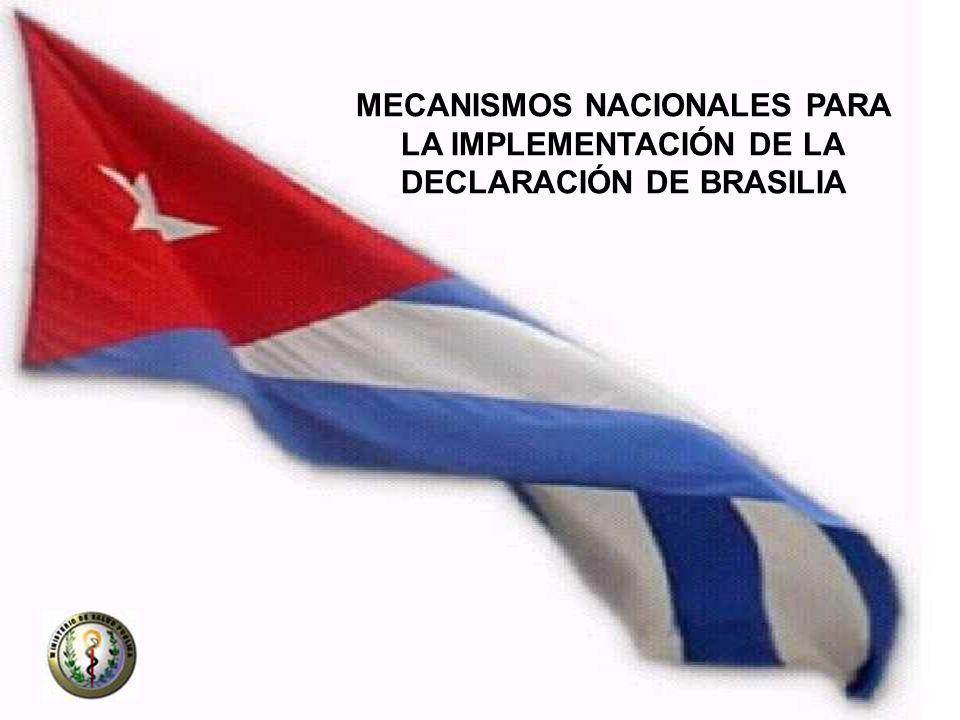 MECANISMOS NACIONALES PARA LA IMPLEMENTACIÓN DE LA
