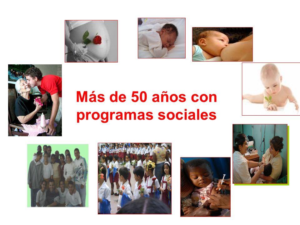 Más de 50 años con programas sociales