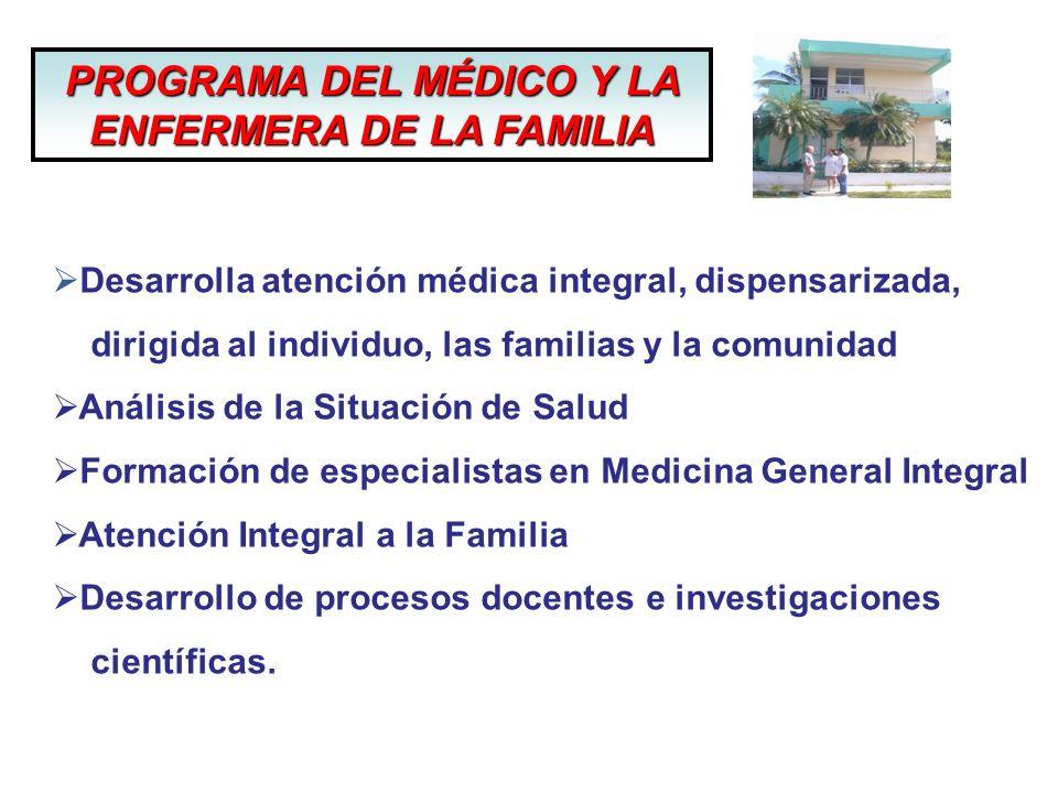 PROGRAMA DEL MÉDICO Y LA ENFERMERA DE LA FAMILIA