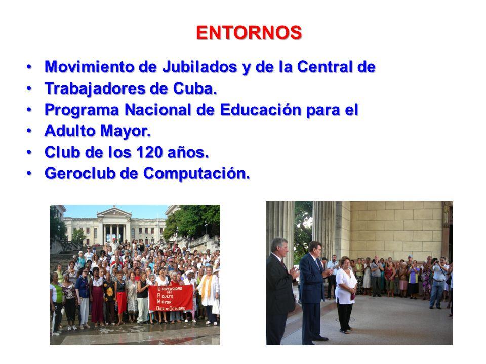 ENTORNOS Movimiento de Jubilados y de la Central de