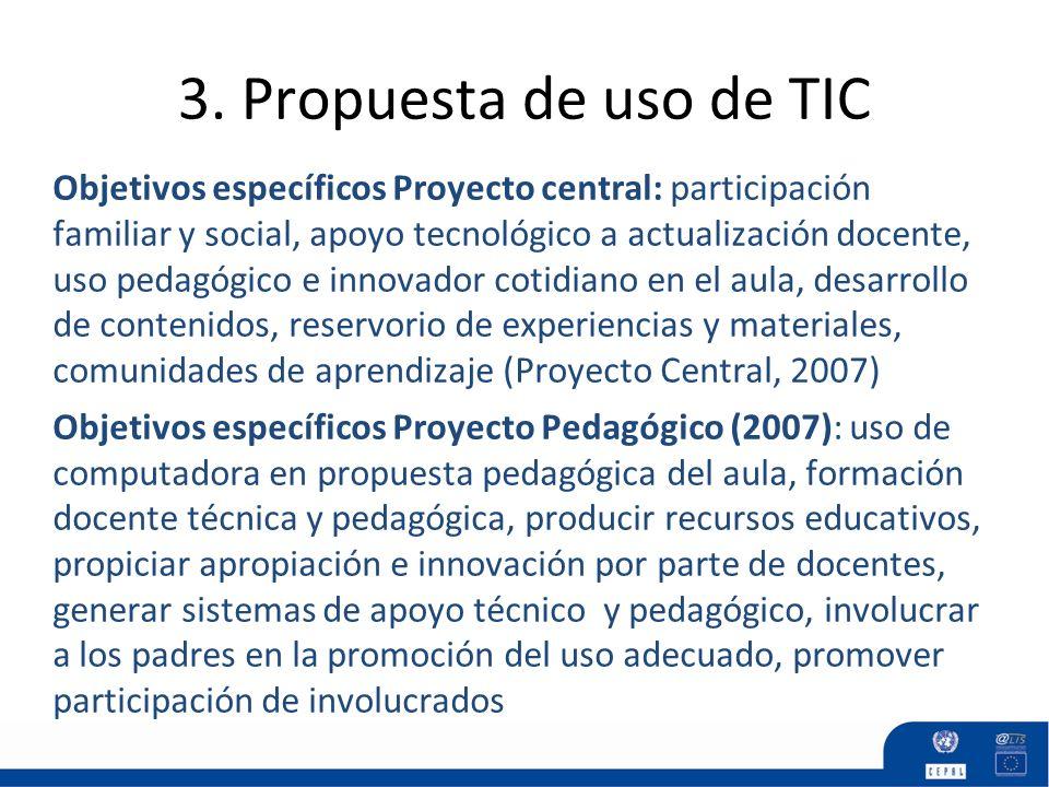 3. Propuesta de uso de TIC