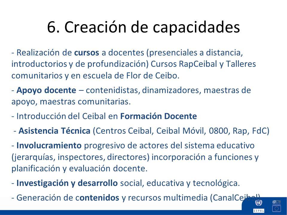 6. Creación de capacidades