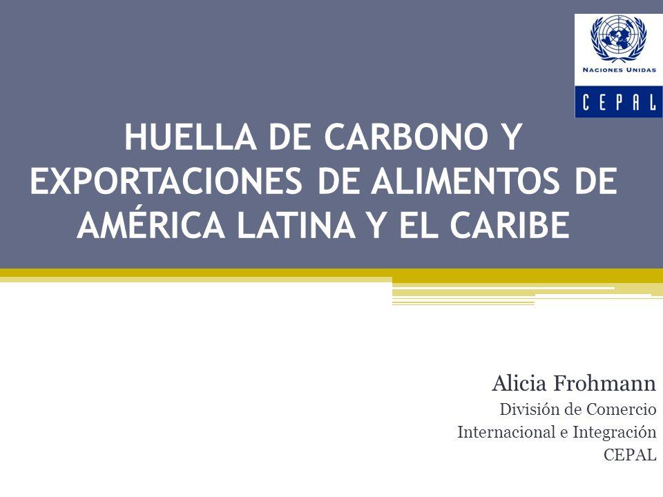 Alicia Frohmann División de Comercio Internacional e Integración CEPAL