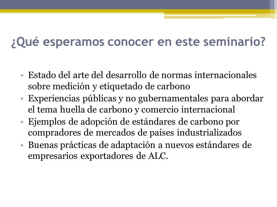 ¿Qué esperamos conocer en este seminario