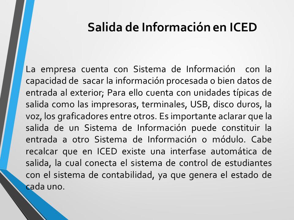 Salida de Información en ICED
