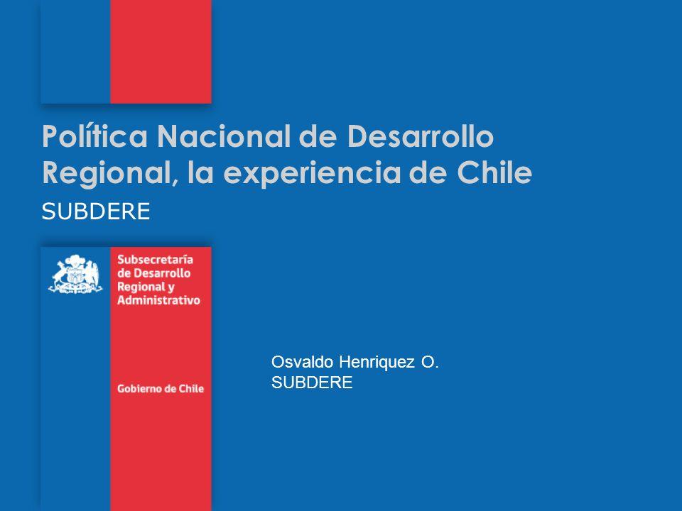 Política Nacional de Desarrollo Regional, la experiencia de Chile