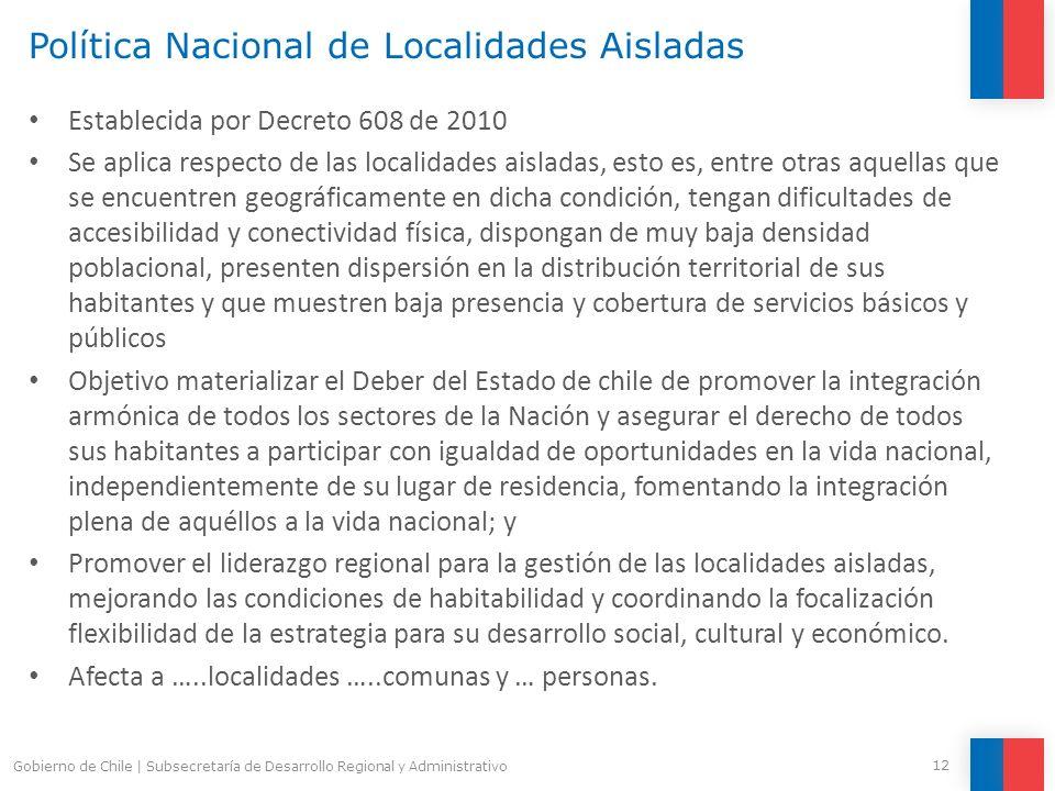 Política Nacional de Localidades Aisladas