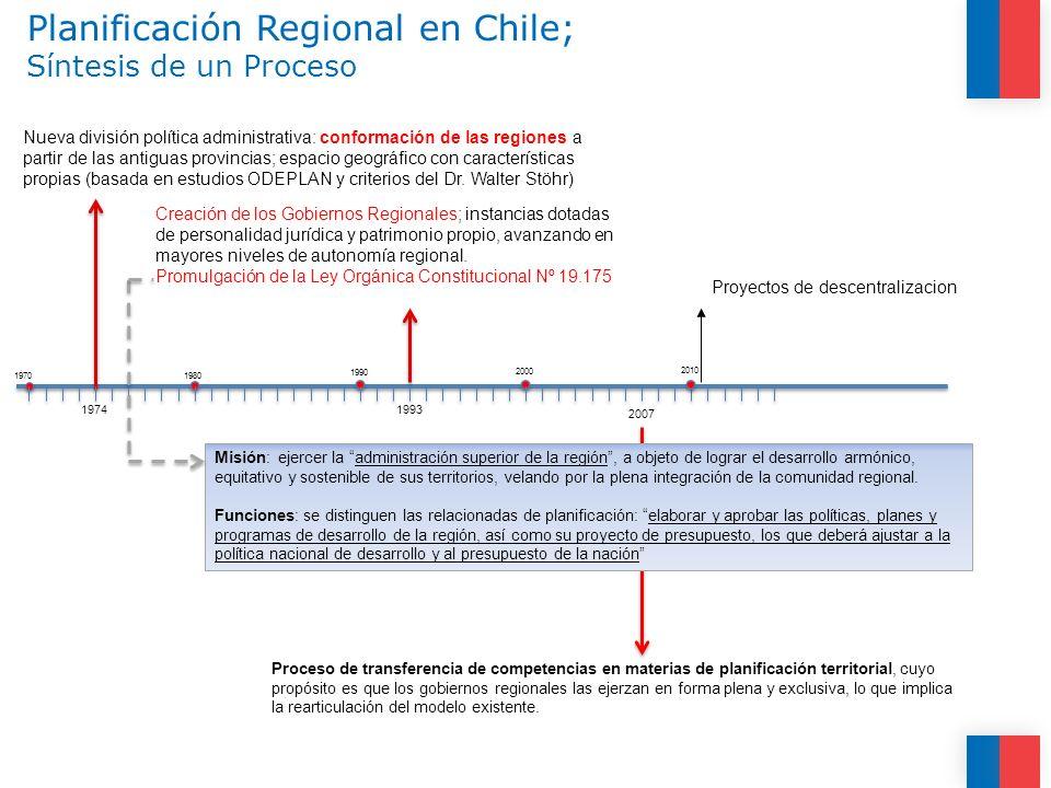 Planificación Regional en Chile; Síntesis de un Proceso