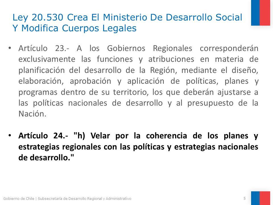 Ley 20.530 Crea El Ministerio De Desarrollo Social Y Modifica Cuerpos Legales
