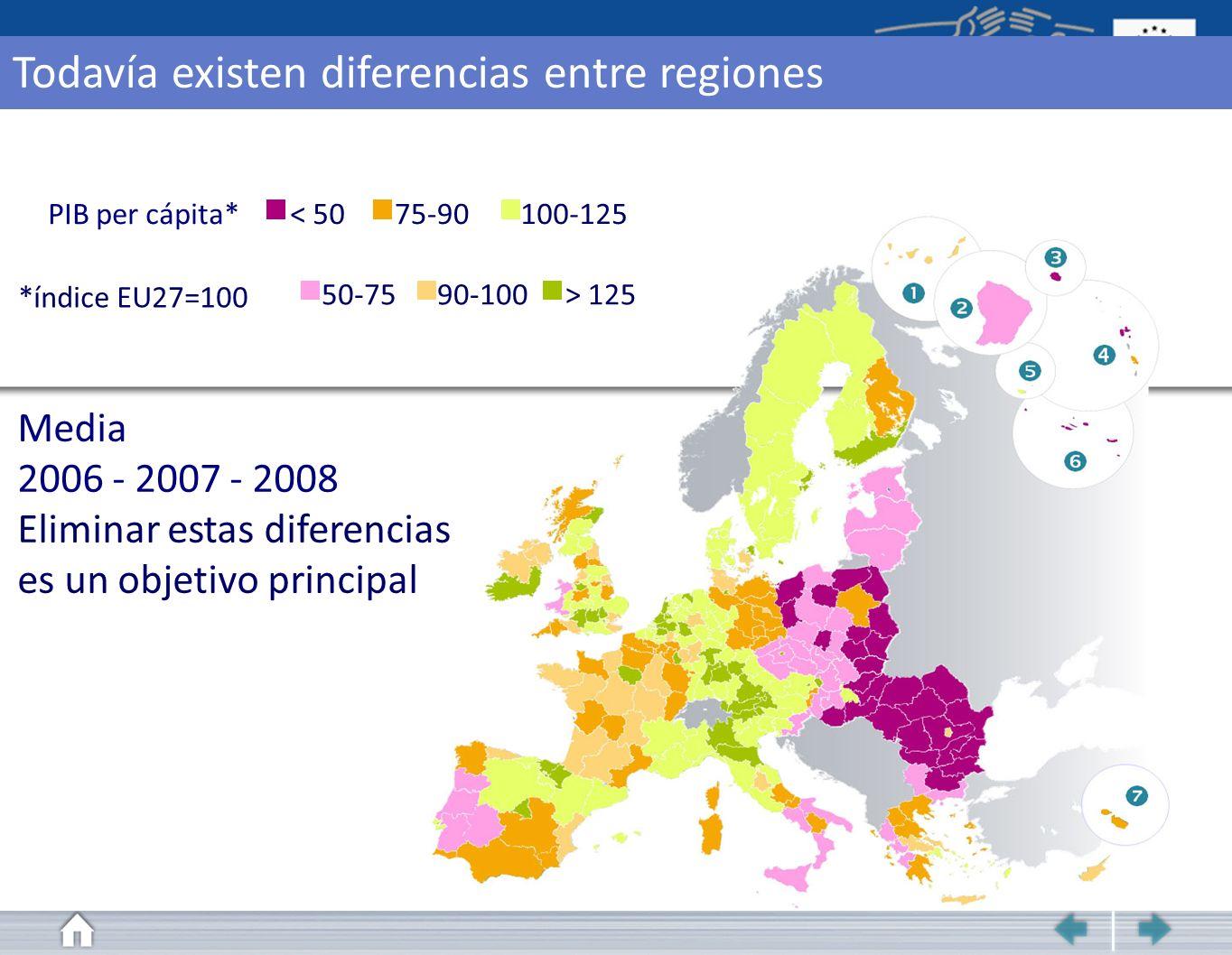 Todavía existen diferencias entre regiones