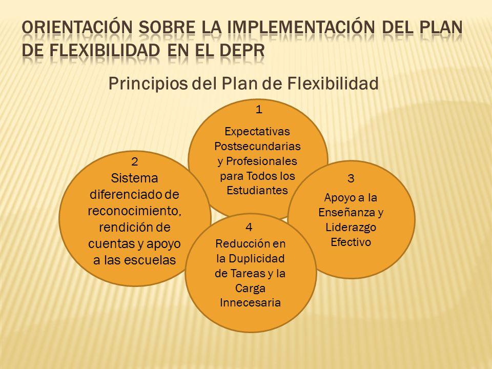 Principios del Plan de Flexibilidad