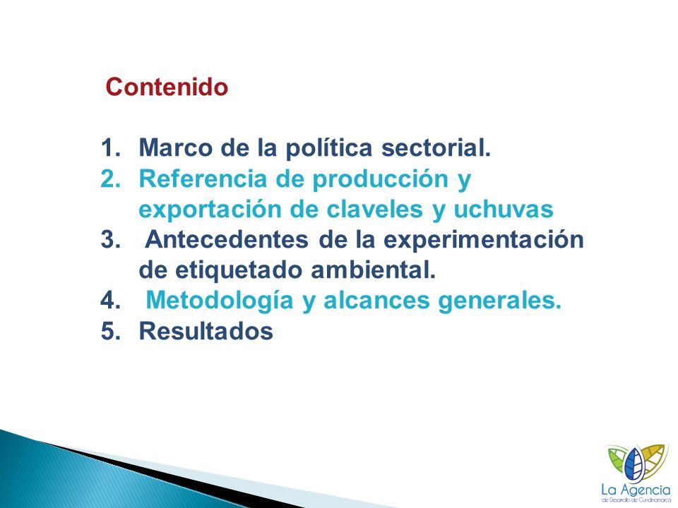 Marco de la política sectorial.