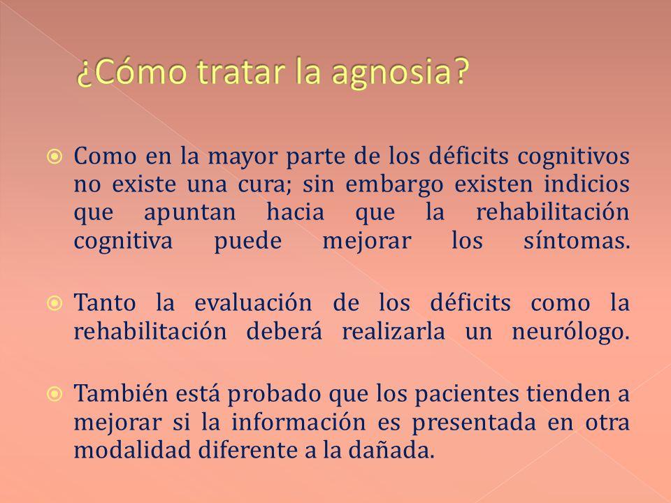 ¿Cómo tratar la agnosia