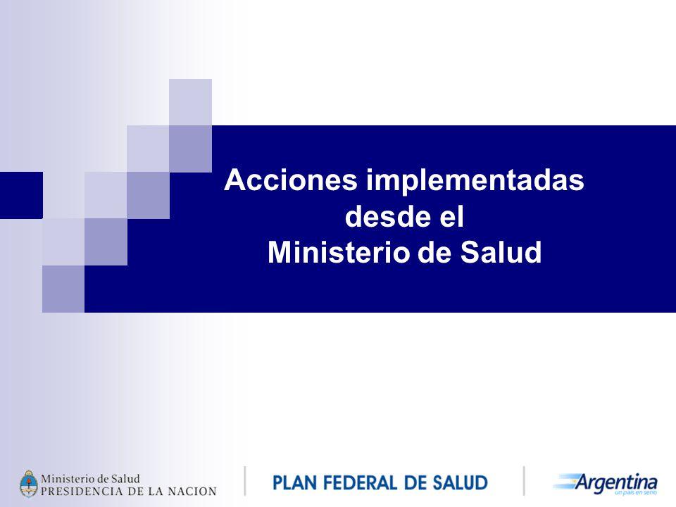 Acciones implementadas desde el Ministerio de Salud