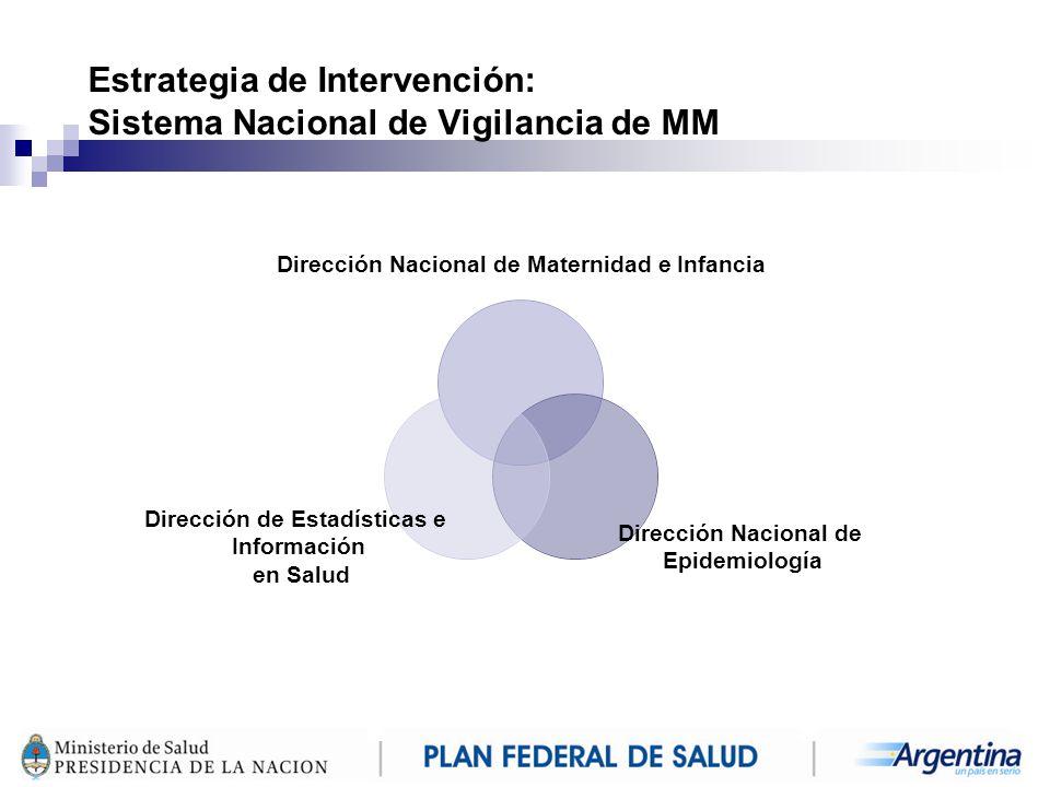 Estrategia de Intervención: Sistema Nacional de Vigilancia de MM