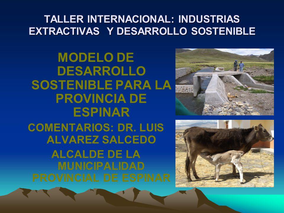 TALLER INTERNACIONAL: INDUSTRIAS EXTRACTIVAS Y DESARROLLO SOSTENIBLE