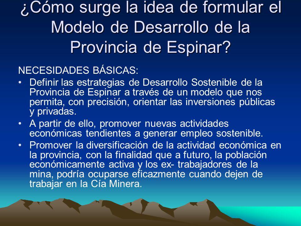 ¿Cómo surge la idea de formular el Modelo de Desarrollo de la Provincia de Espinar