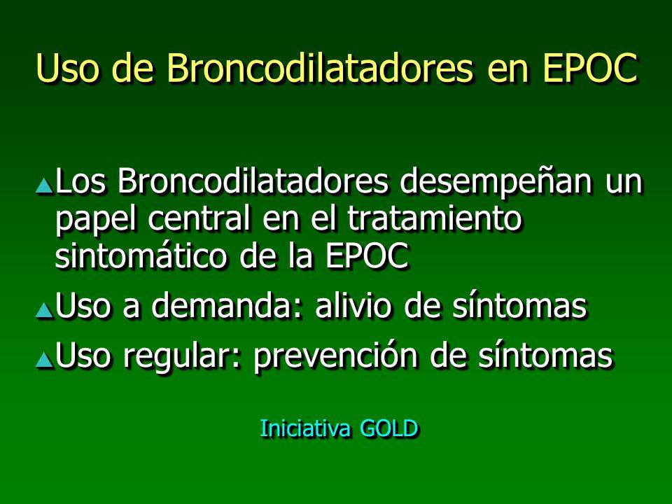 Uso de Broncodilatadores en EPOC