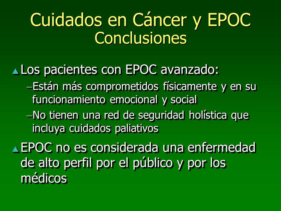 Cuidados en Cáncer y EPOC Conclusiones