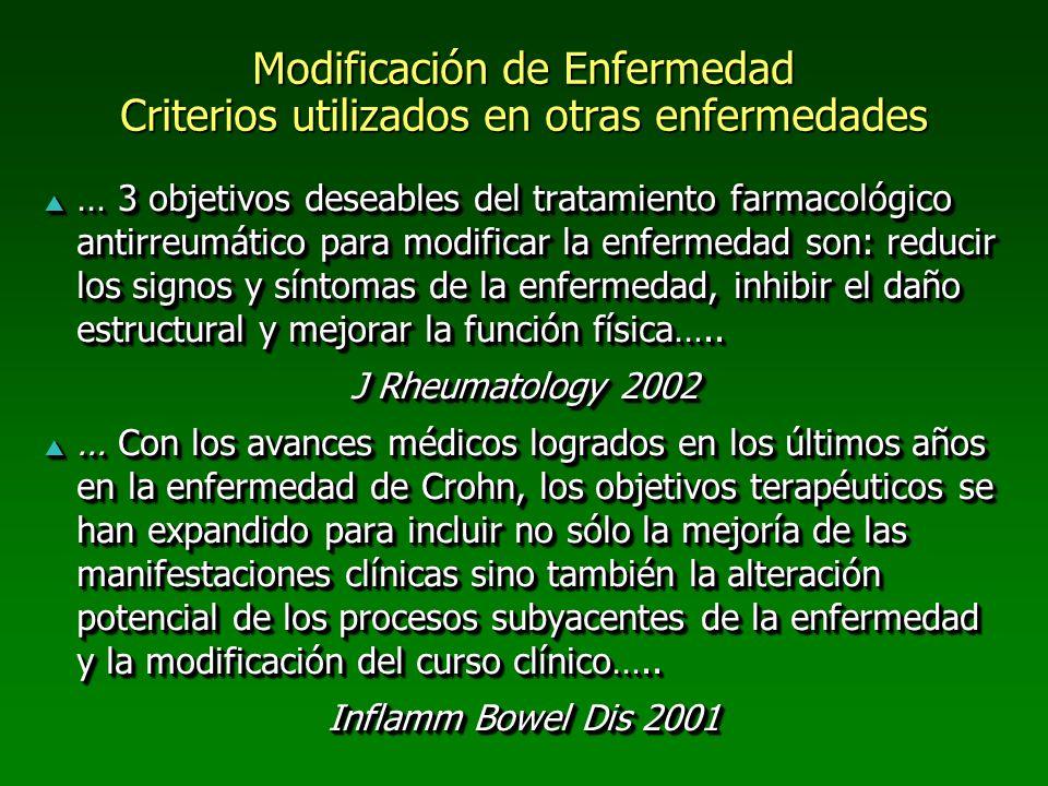 Modificación de Enfermedad Criterios utilizados en otras enfermedades