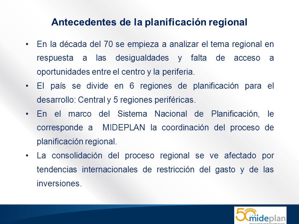 Antecedentes de la planificación regional