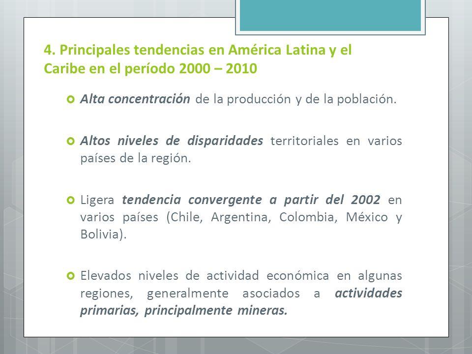 4. Principales tendencias en América Latina y el Caribe en el período 2000 – 2010