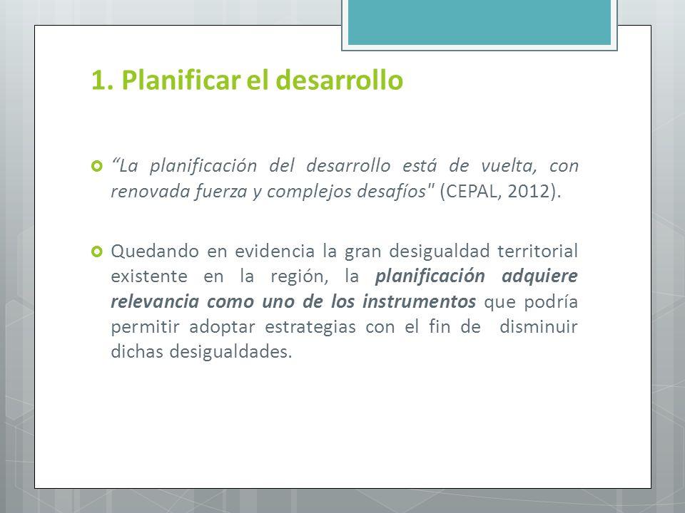 1. Planificar el desarrollo