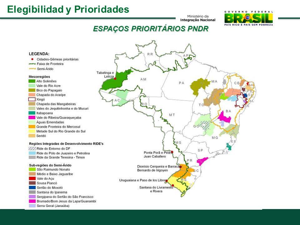 ESPAÇOS PRIORITÁRIOS PNDR